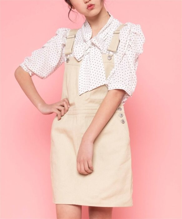 Hinanon カラージャンパースカート