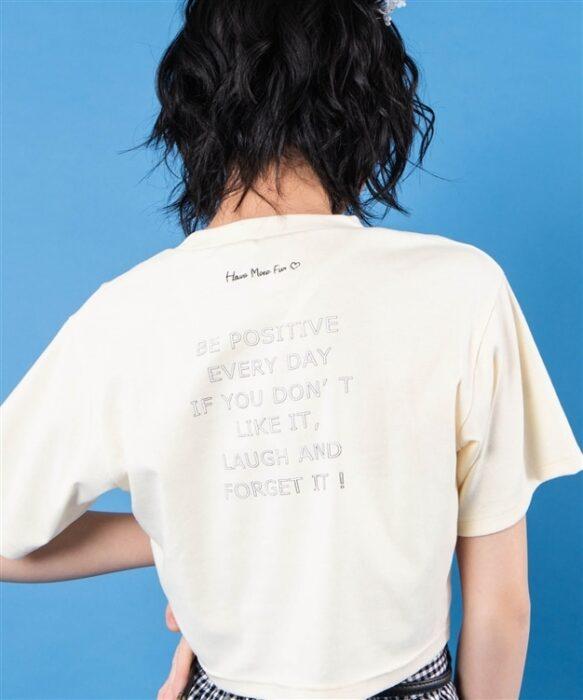 HinanonロゴクロップドTシャツ