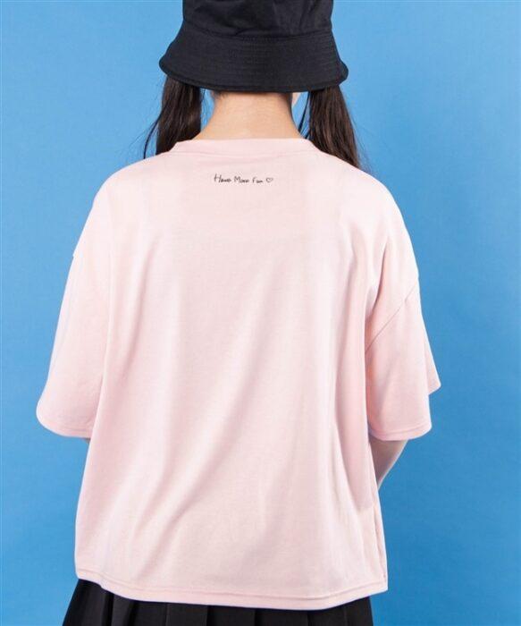ジグザグステッチロゴTシャツ