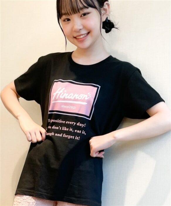 HinanonボックスロゴTシャツ