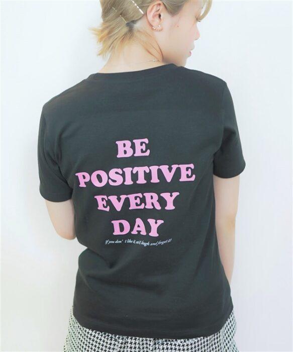 メッセージバックプリントTシャツ
